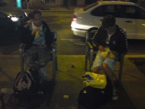 2 pojkar och deras plats för natten