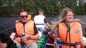 Ölpaus på sjön