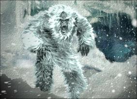Kanske vi får se en Yeti uppe bland bergen?