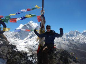 På toppen av Nagarjun Peak!