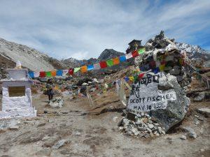 Minnesplats för omkomna på Everest.