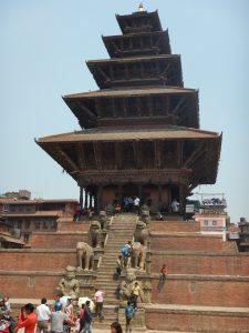 Ett tempel i Bhaktapur