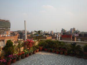 Utsikt från vårt hotell, Kathmandu Eco Hotel.