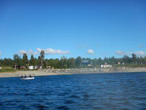 Vuonatjviken sett från sjön