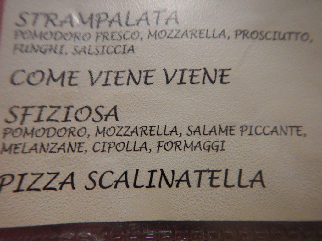 Pizza-menyn!